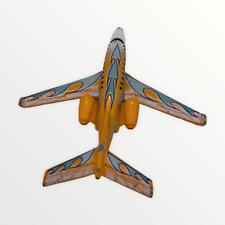 2002 Matchbox Sky Busters Business Jet Plane Diecast Used Loose Orange Grey Blue