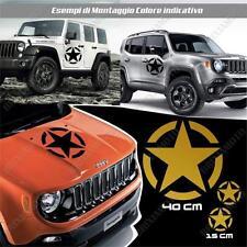 3 PEGATINAS ADESIVAS COCHE PUERTA ESTRELLA STAR ARMY LAND ROVER DEFENDER ORO