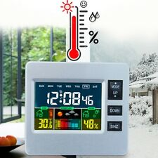 LCD Wireless Weather Station Thermometer Hygrometer Forecast Tester Alarm Clock