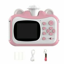 Children Kids Instant Print Camera Rotatable Lens 1080P HD Kids Popular Toy Gift