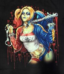 T-Shirt Harley Quinn DC Comics Batman Joker Punk Rock 3D Rock Eagle Glow in Dark
