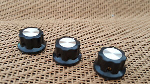 3pcs Black Boss Guitar Effects Pedal Stompbox Control Rotary 6.35mm Knob