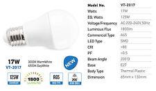 X 10 LAMPADINE LED E27 17W A65 BULB VT-2017 NEW V TAC 1800 LUMENS CALDA