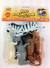 Wild Republic Polybag Zoo Animal Soft & Squeezable Play Set toy Figurines