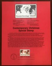USA Contemporary Christmas Special Stamp First Day of Issue Oct 28, 1983