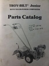 Troy-Bilt Walk-Behind Junior Roto Tiller Composter Parts Manual Garden-Way