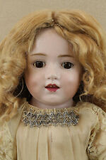"""20"""" Antique Gebr Heubach """"Dolly Dimple"""" Bisque Head German Doll With Repair"""