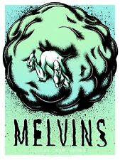 MELVINS Vancouver 2018 silkscreened poster by Daryll Peirce