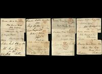 UK Britain STAMPLESS Postage Letter Front CROWN Circles Collection 1830's London