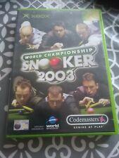 New listing World Championship Snooker 2003 - Microsoft Xbox (2003) PAL
