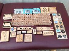 Huge Lot Wooden Wood Rubber Scrap booking Scrapbook Stamps Crafts 150 stamps