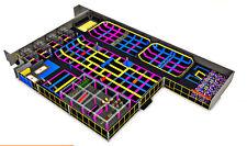 25,000 sqft Turnkey Commercial Trampoline Park Dodgeball Ninja Gym We Finance