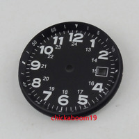 NEW 33MM sterile Black Dial Date Luminous Fit ETA 2824 2836 MIYOTA 82 Movement
