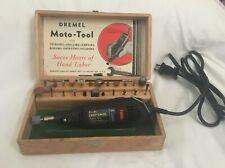 Vtg Dremel Moto-Tool Model No. 2 Wood Box Set Craftsman Rotary Tested + Works