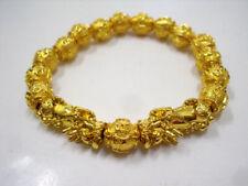 Pixiu Bracelet Mala Bead Golden Ball Lucky Feng Shui Talisman Tibet Thai Amulet