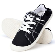 Sowift Womens Lace Up Canvas Shoes Slip On Casual Sneakers Comfort Walking Shoes