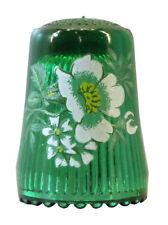 Fingerhut de verde vaso de cristal estampado flores-ae 760