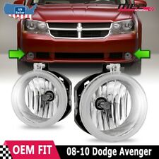 For Dodge Avenger 08-09 Factory Bumper Replacement Fit Fog Lights Clear Lens (Fits: Dodge Avenger)
