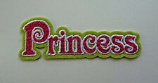 Princess Embroidered Applique Iron On / Sew On Patch