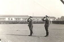 WWII Ger Large RP- Osnabruck- Oath Ceremony- Medal Row- Sword- Commander Salutes