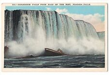 ODD Front?  Horseshoe Falls From Maid of the Mist Niagara NY Vintage Postcard