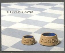 GB - Booklet 10 1st class stamps MNH Cats Dogs