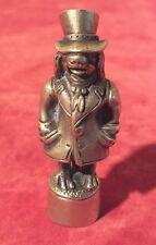 sceau ancien bronze sculpture chien + haut de forme cachet tampon seal