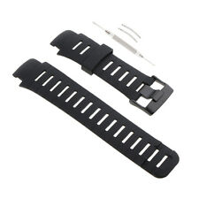 Soft Rubber Steel Buckle Wristband For SUUNTO X-LANDER Tool DIY Repair Black