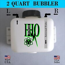 2 Quart Bubbler/ Scrubber/ Reservoir: Left or Right Output, Hho, Dry Cell