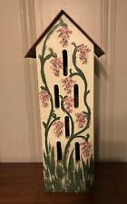 "Karen Penner Wooden Butterfly House. Copper Roof. 20x6"" Hand Made"