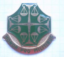 502nd Military Police Battalion/Honor Pro militibus/US Army Crest. pin 104b