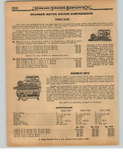 1927 PAPER AD Brunner Motor Driven Air Compressor Power Plant 3/4 HP