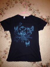 SINFUL FAIRY WITH WINGS Black T-SHIRT WOMENS Medium