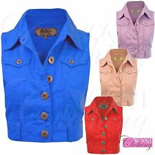 Button Casual Denim Coats & Jackets for Women