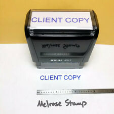 New Listingclient Copy Rubber Stamp Blue Ink Self Inking Ideal 4913