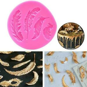 Silicone Feather Fondant Mould Cake Animal Birds Plume Hot Baking Sale H2W8 Gift