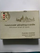 Heraclio Fournier 54 Colour Views Of Spain Souvenir Playing Cards + Map Sealed.