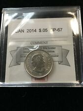 2014  Coin Mart  Graded Canadian,  5 Cent, **SP-67**