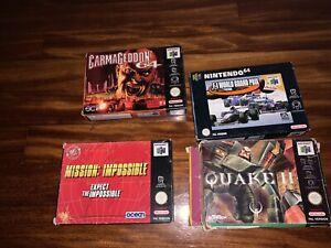 Lote Juegos Nintendo 64 N64 PAL