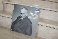 Double LP Bach l'art de la fugue - pour orchestre de R.Vuataz  hermann scherchen