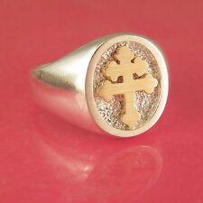 Cross Of Lorraine Ring 14K & Sterling Silver (#1-6)