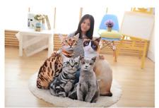 Realistic Cat Pillow Soft Plush Stuffed Animal Cushion Simulation Cat Plush Toy