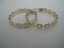 Gold hoop earrings 9 carat yellow gold links