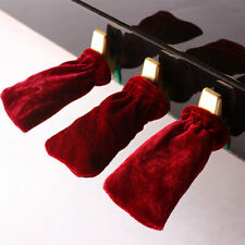 3 Pcs Practical Pleuche Piano Pedal Cover professional Accessories (Red) NEW