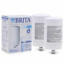 2 PK Brita Faucet Water Filter FR-200 FF100 OPFF-100 Replacement Filters White