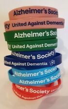 Alzheimer's Society coloured silicon wristbands    - Brand New for  charity