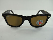 Genuine Ray-Ban RB2140 902/57 Wayfarer Tortoise/ Brown 50mm Polarized Sunglasses