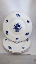 Set of FOUR Very Rare Royal Crown Derby Festival Blue A1257 10 5/8 Dinner Plates