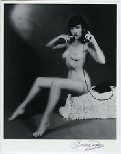 Risque Gossip Girl Bettie Page Pin-Up Lithograph NOS Hand Signed by Bunny Yeager