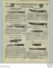 1924 PAPER AD Marble's Ideal Hunting Knife Knives Safety Folding Axe Axes